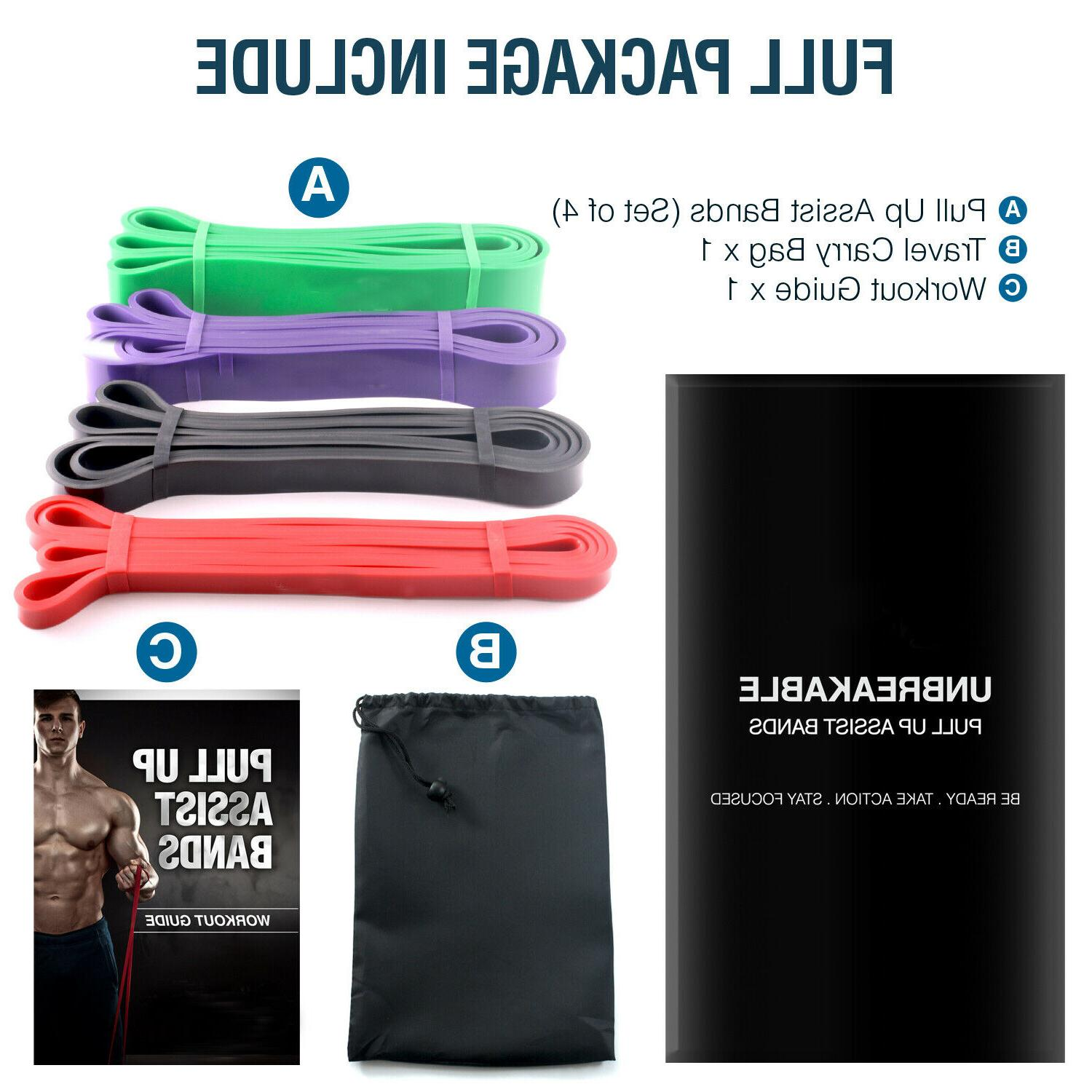 Heavy Bands Set Loop Gym Exercise Pull Fitness