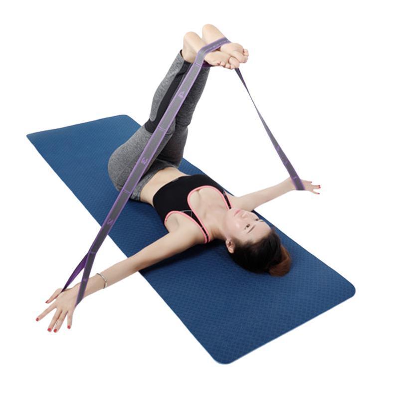High Elastic Yoga Accessories Fitness <font><b>Resistance</b></font> Training Tension Stretching Yoga <font><b>Mat</b></font> Strap