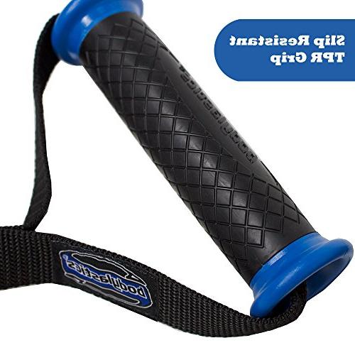 Bodylastics Gym Bands with ABS Cores, TPR Grip, Super Strong Webbing, Welded O-rings