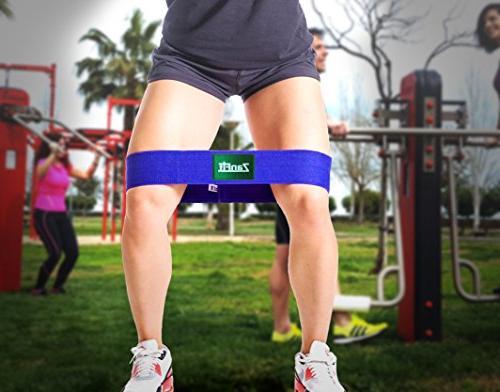 ZanFit Hip Set 3 - Fabric Resistance Bands - Booty Resistance Hip Medium - Perfect Stretching, Squatting, Pilates.
