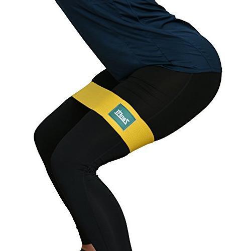 ZanFit Set of - Fabric Bands - Booty Resistance Hip Band No Medium Heavy Loop - Stretching, Lifting, Squatting, Pilates.