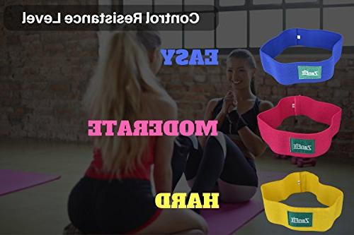ZanFit Bands - Set 3 Fabric Bands - Booty Bands - Thigh Resistance - No Low, - Squatting,