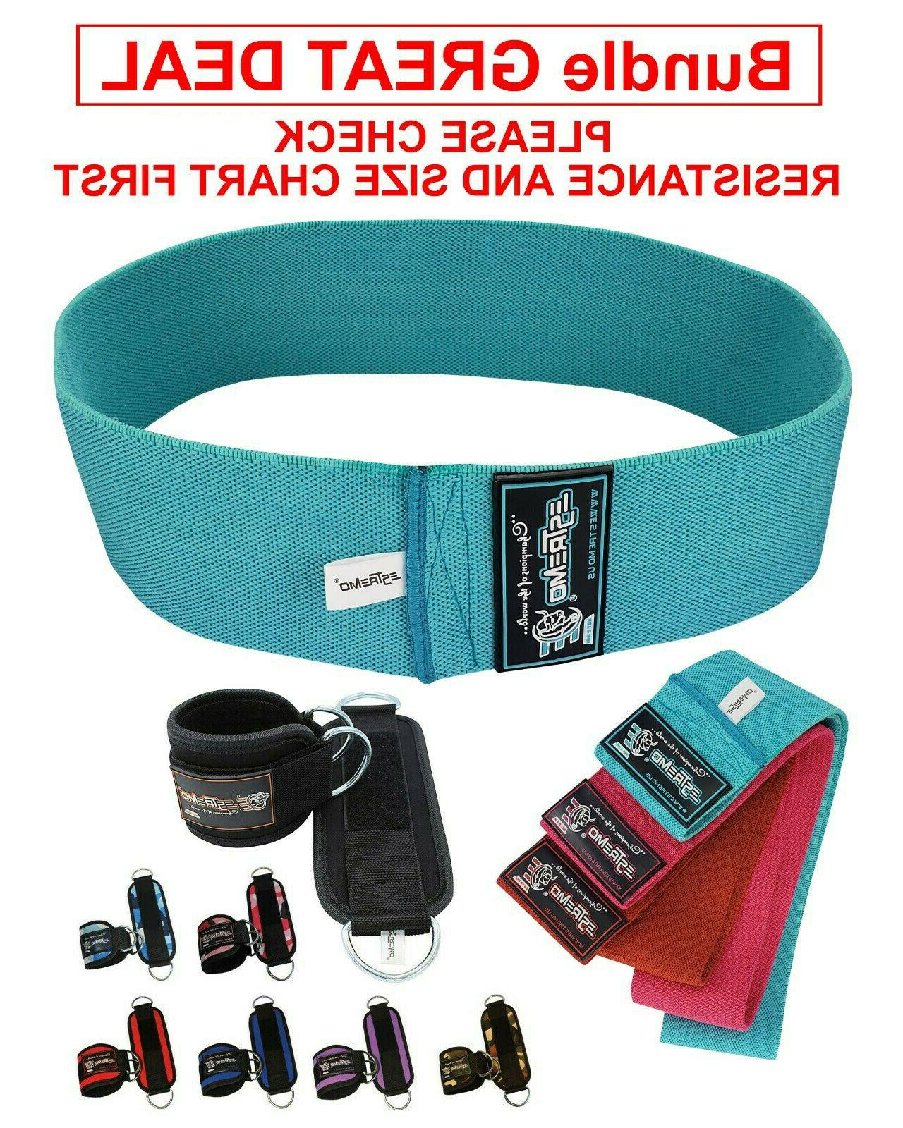 resistance bands and ankle straps for cable