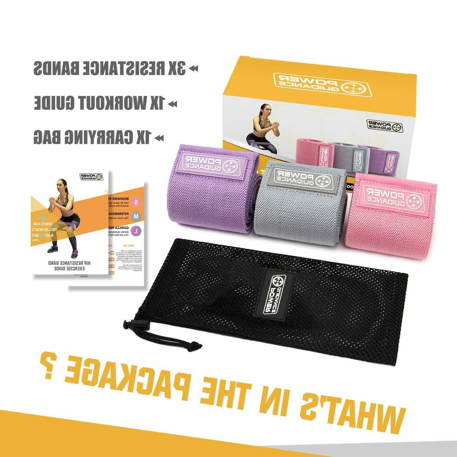 POWER GUIDANCE Hip Resistance Bands,Exercise Circle Bands fo