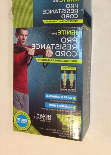 ignite pro resistance exercise cords red heavy