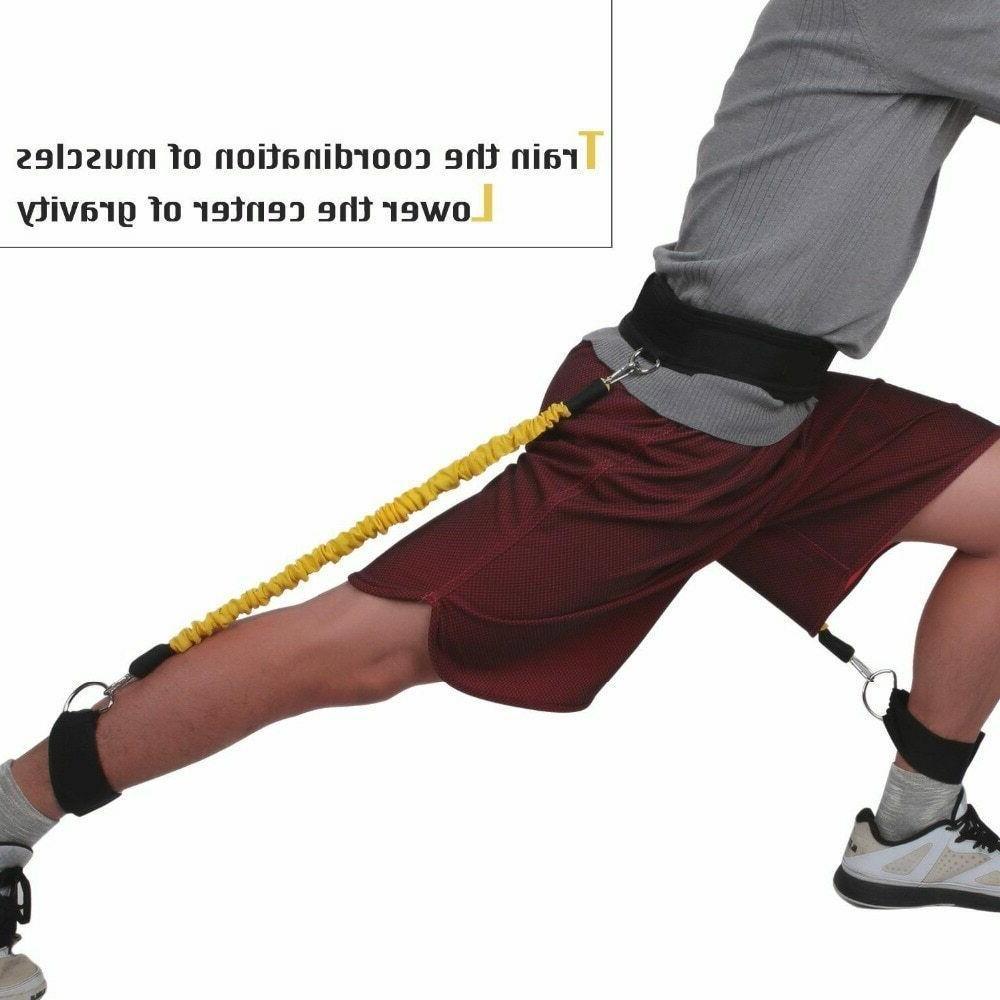 Elastic Resistance Training Trainer Jump Strength Fitness Agility