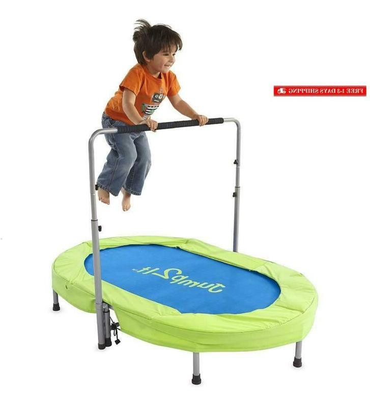 Jump2It Kids Portable Person Trampoline Adjustable
