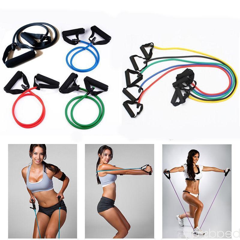 Latex Resistance Pilates Tube Pull Rope Gym Yoga
