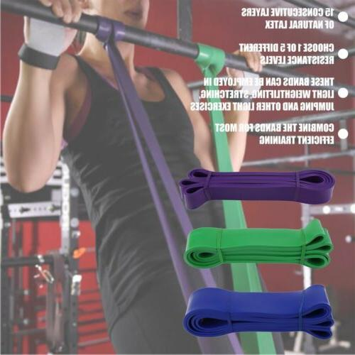Latex Pull Up Bands Resistance Body Yoga Fitness Sports