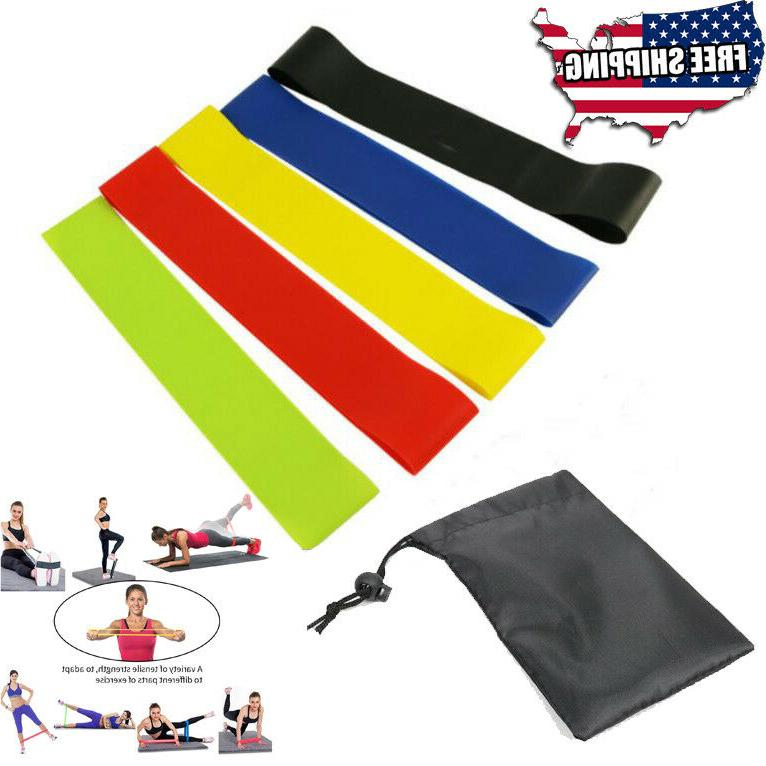 latex rubber Resistance Exercise Bands Booty Workout Loops g