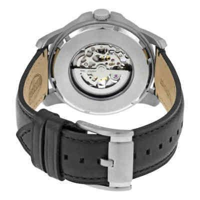 Fossil® Men's Automatic Watch in with Black Leather