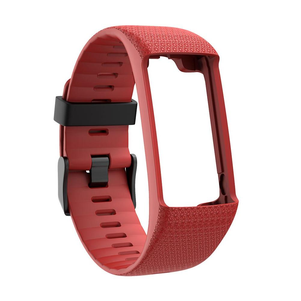 Men Women Soft Buckle Wristband Bracelet Sport Watch <font><