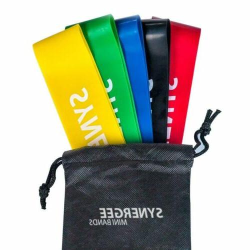 iheartsynergee Mini Band Resistance Exercise of 5 with Bag