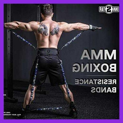 mma boxing training natural latex resistance band