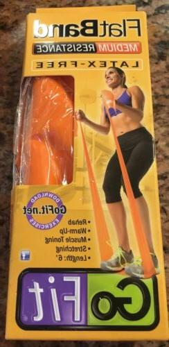 New Go Fit Resistance Band Medium Resistance Band Latex-Free