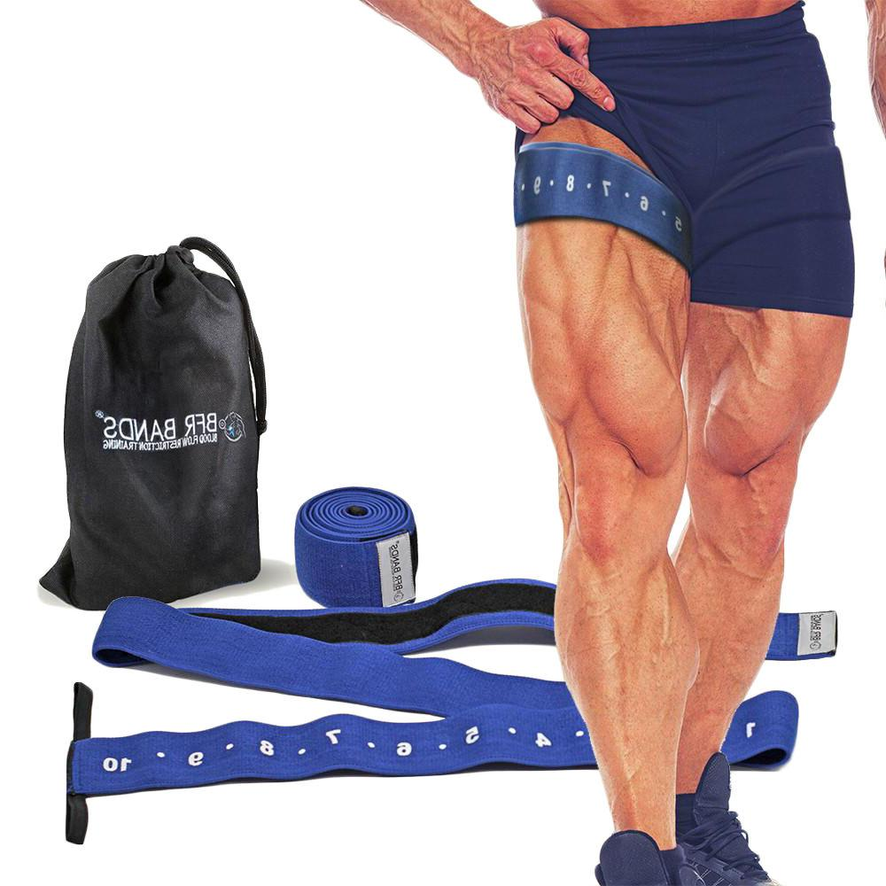 Double Wrap Occlusion Training Bands For Legs /& Calves 3 Inch Wide Knee Bands...
