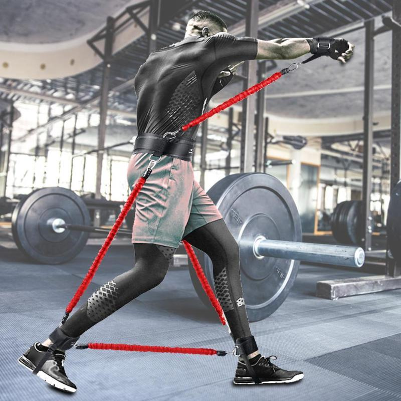 New Belt Leg Arm Exerciser Jumping Strength <font><b>Equipment</b></font> Fitness <font><b>Resistance</b></font>