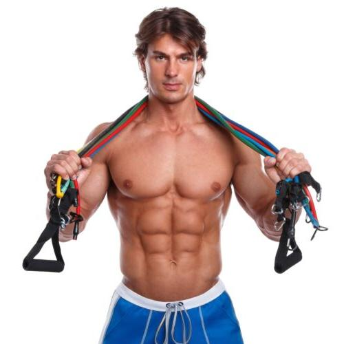 New WODFitters Stackable Resistance Bands Set Grip Handles