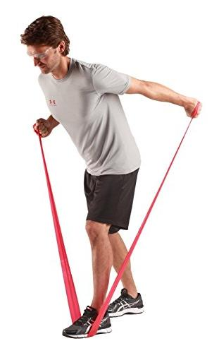 TheraBand Resistance Yard Medium Non-Latex Professional For Upper Lower Body Pilates, Dispenser Beginner 3