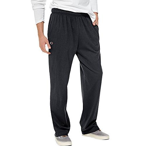 open bottom light jersey sweatpant
