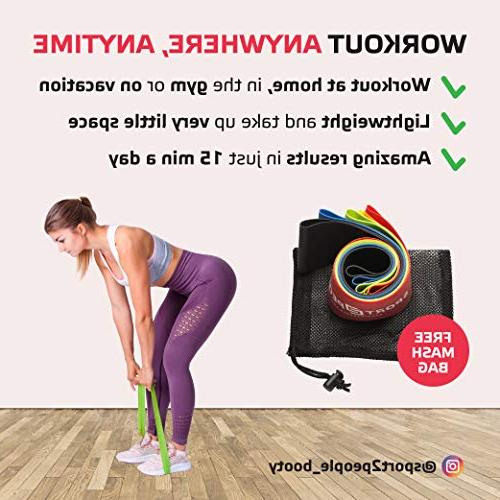 Sport2People Exercise Loop Bands for with 2 Workout E-Books for Physical Loops for Hips and Leg 5