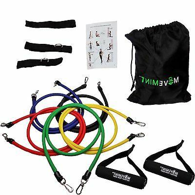 physical therapy resistance bands set ankle straps