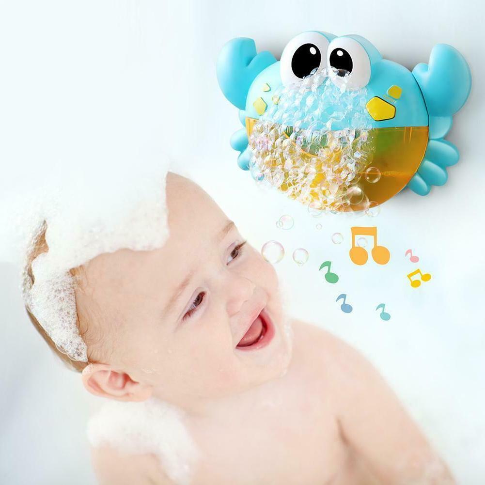 Plastic Cartoon Crab Machine Music Bubble Baby Bath