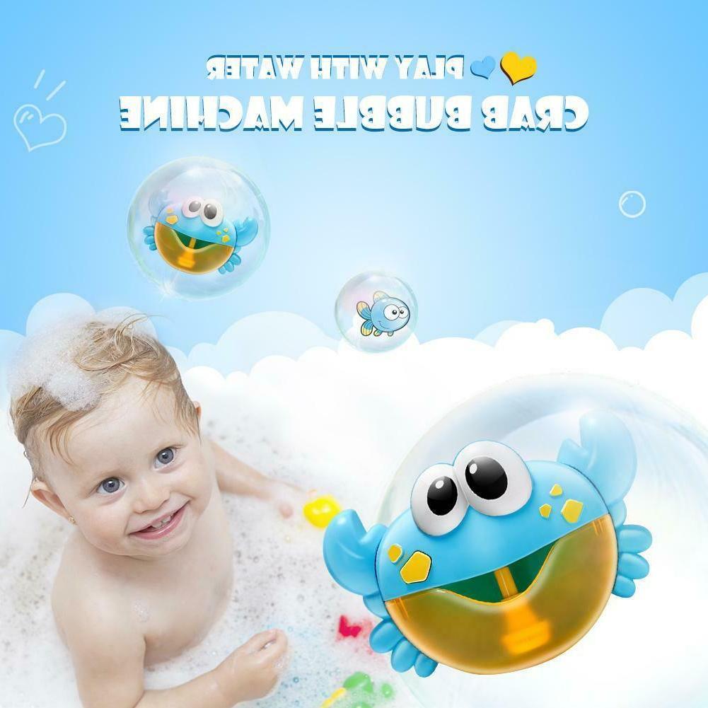 Plastic Cartoon Baby Shower Crab Machine Music Bubble