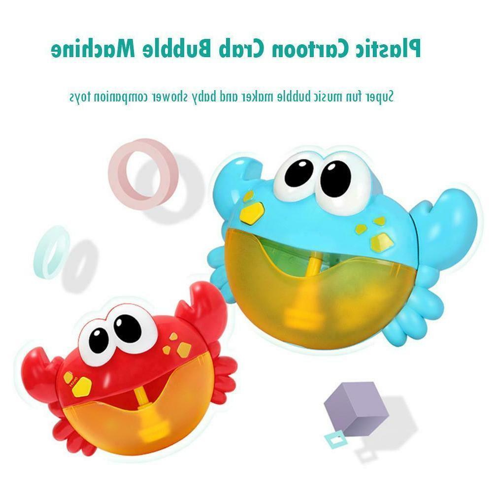 Plastic Baby Shower Crab Machine Bubble Maker
