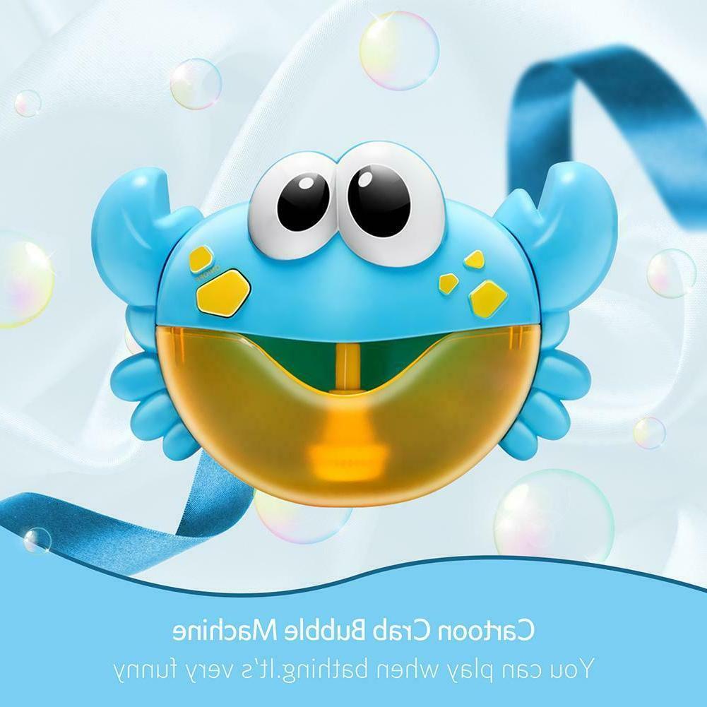 Plastic Cartoon Baby Shower Toy Crab Machine Bubble Maker