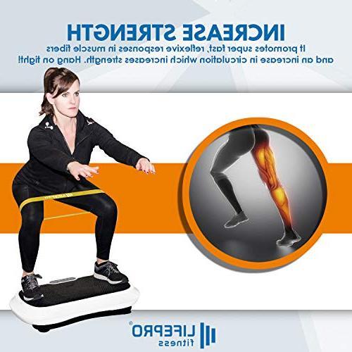 LifePro Machine Workout Vibration Fitness w/Loop - Training Loss Remote, Balance Board Videos Manual