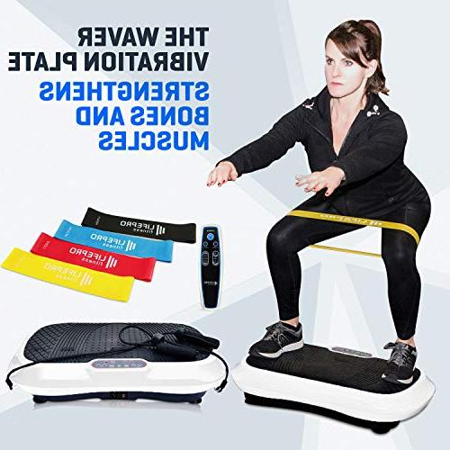 LifePro Plate Machine Whole Body Workout w/Loop Home Training Loss & Toning - Remote, Balance Straps, Videos