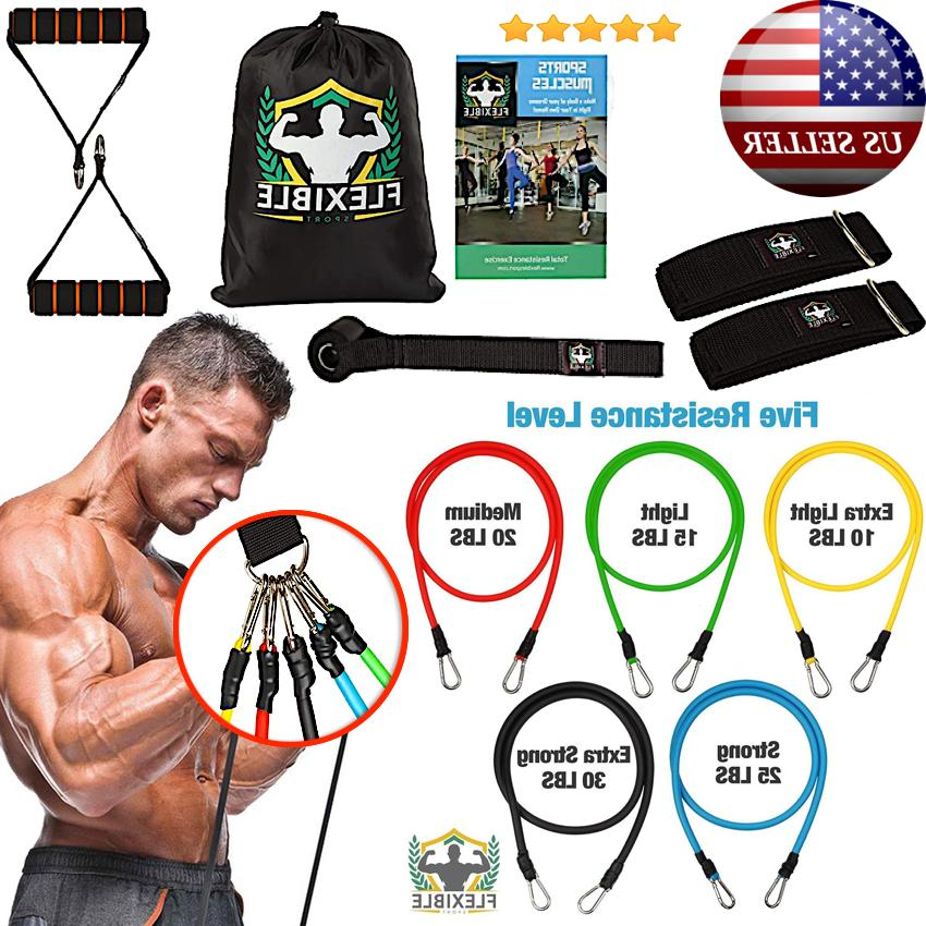 Premium Resistance Bands Gym Fitness Pilates Workout