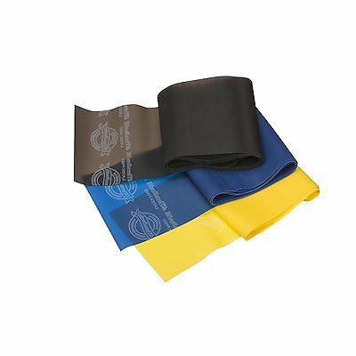 professional latex resistance bands yellow blue black