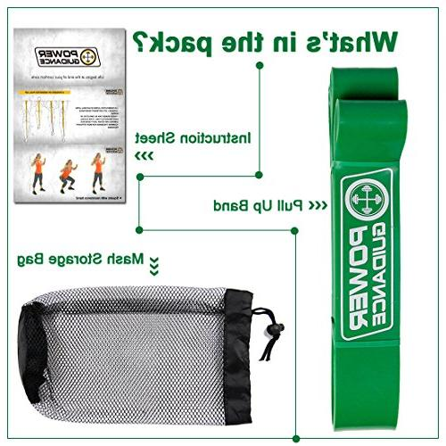 POWER GUIDANCE Assist Bands Resistance - Band - Powerlifting - for Body Stretching, Powerlifting, Training Green