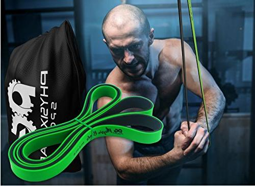 Pull Assistance - Resistance Bands Set Assist, Stretching, Legs Glutes Crossfit Physical Therapy & - Gym 1 Green