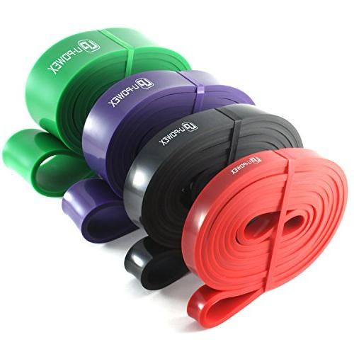 UPOWEX Pull Up Bands 4 Duty Resistance Bands and Powerlifting – Perfect Stretching, Powerlifting Resistance Training