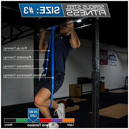 Serious Steel Fitness - Light Assist & Resistance Band Pull-Up Band INCLUDED
