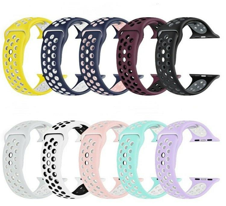 replacement silicone sport band 38mm 42mm