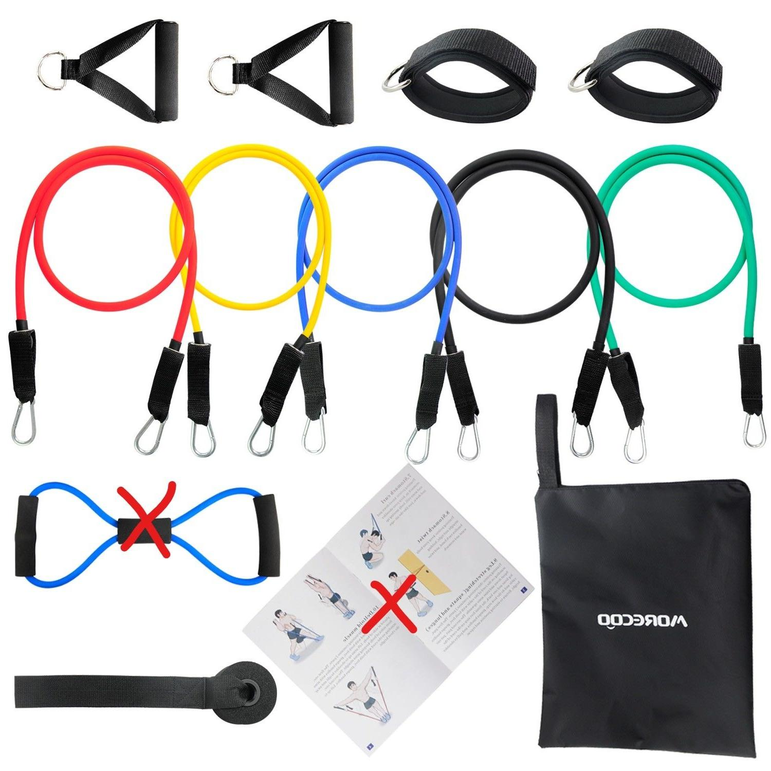 resistance band 11pc set with latex resistance