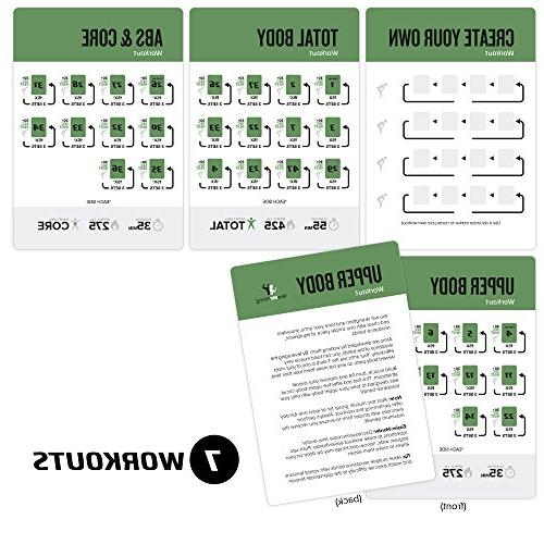 Resistance Band Cards with Effective Home Workouts : Durable and Instructions Fitness for & Cards