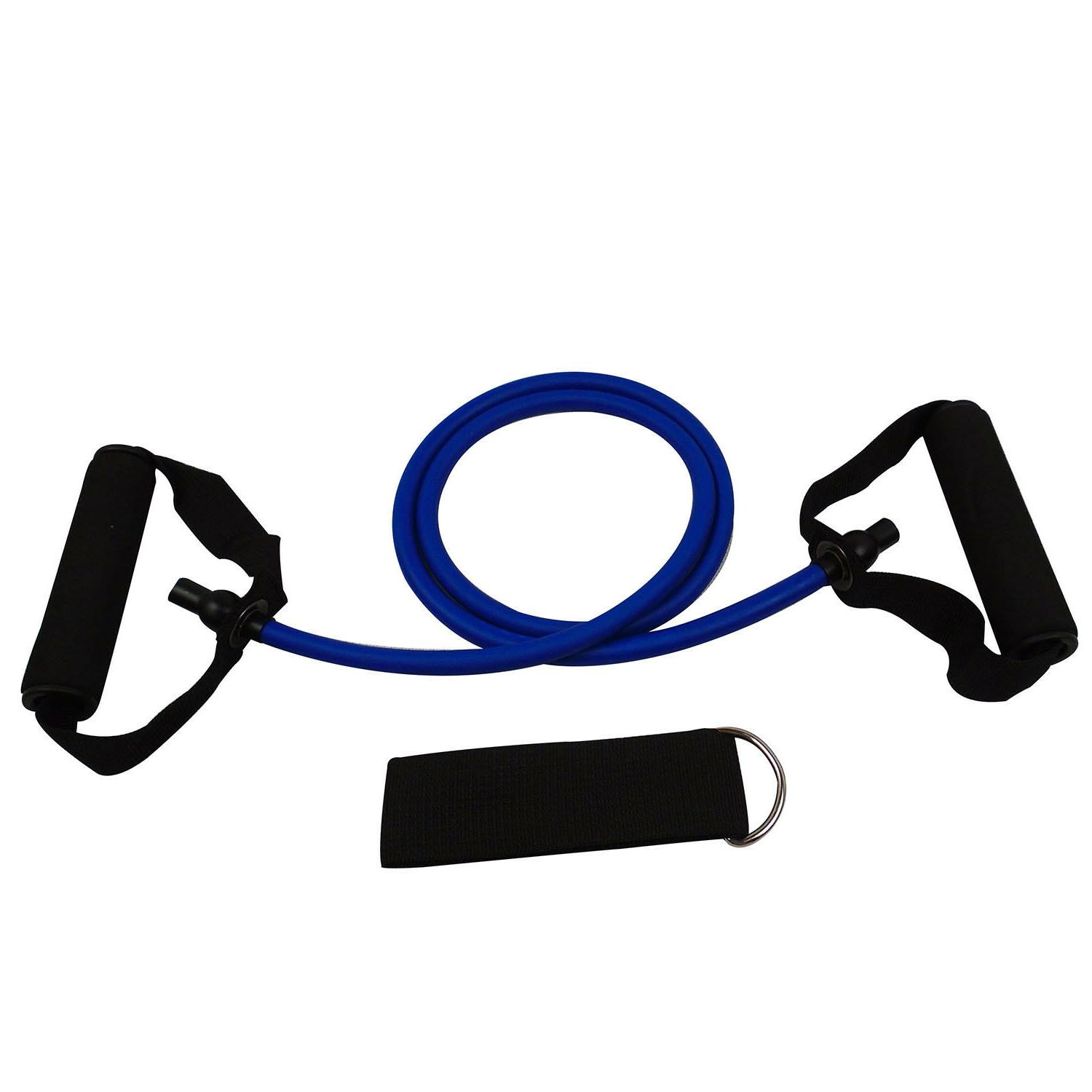 resistance band exercise tube with door anchor