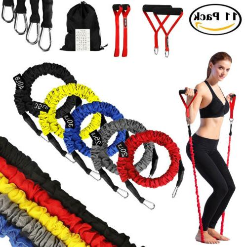 resistance band leg strength training exercise device