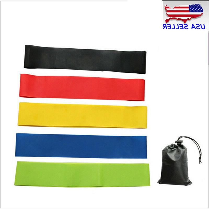 Set Of Resistance Band Loop Pilates Exercise Fitness