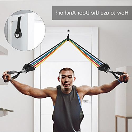 WENFENG Resistance Bands- with Handles Straps,Exercise Loop Bands for and Activation, Resistance,