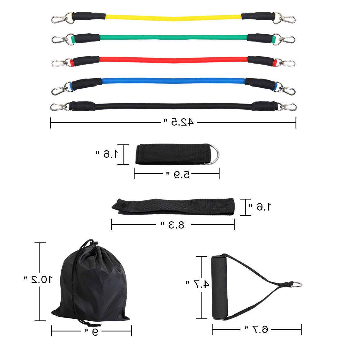 Yoga Pilates Band Tube Resistance Bands Fitness Rubber Training