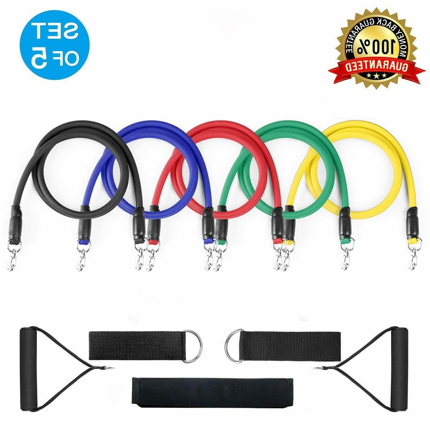 resistance band set workout bands 11 pieces