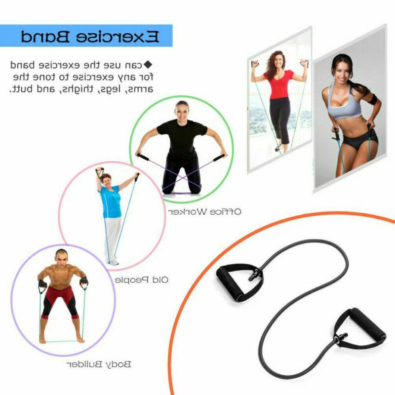 Resistance Band Exercise Tube Home Gym Bands Rope