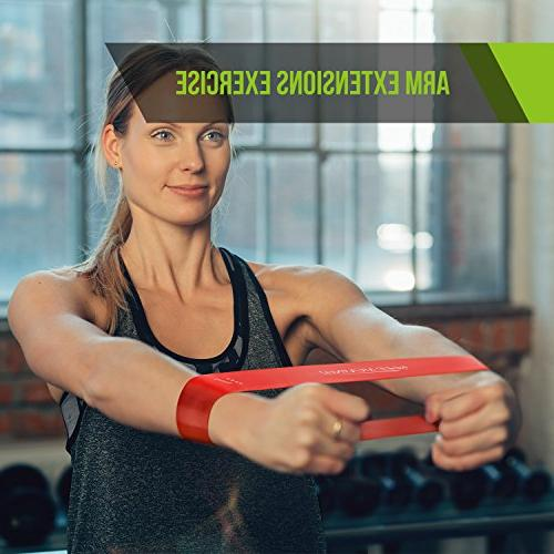 Semx Bands with E-Book/User Guide/Carry Bag, for Yoga/Pilates/Stretching/Strengthening/Fat Therapy