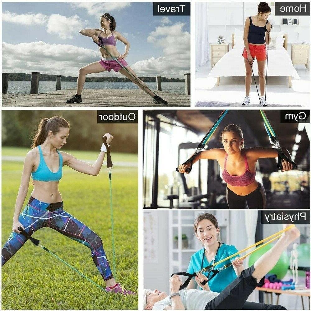 Resistance Bands,11PCS set, Yoga Pilates Fitness Workout
